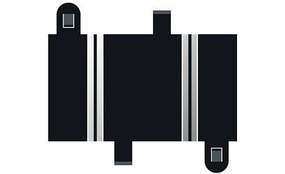 Scalextric SPORT Gerade 87mm (2)