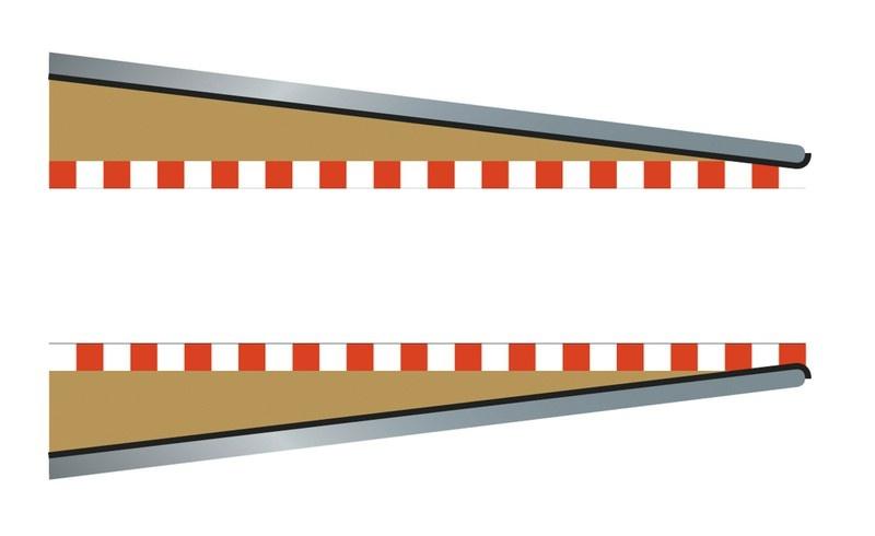 Scalextric SPORT Randstreifen Anfang/Ende 350mm (2)