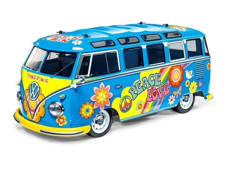 Tamiya RC 1:10 RC VW Bus Type 2 T1 Flower Power