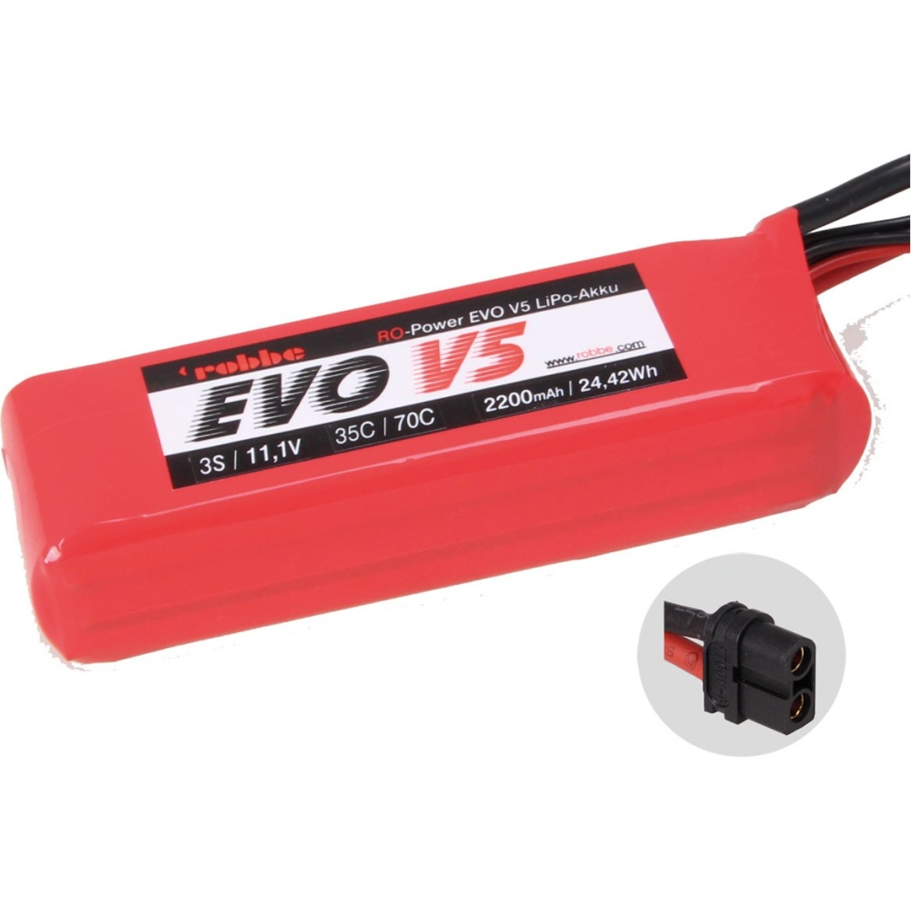 Robbe RO-POWER EVO V5 35(70)C 11,1 VOLT 3S 2200mAh LIPO Akku