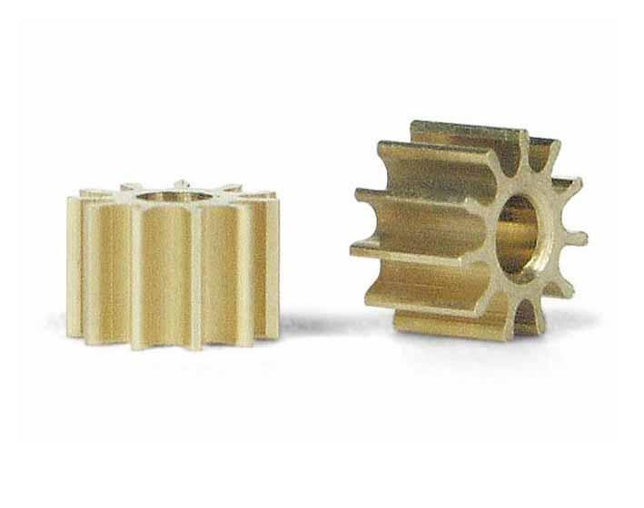 2x Slot.It Motorritzel PAS 5,5mm 10 Zähne für 2,00mm, inline