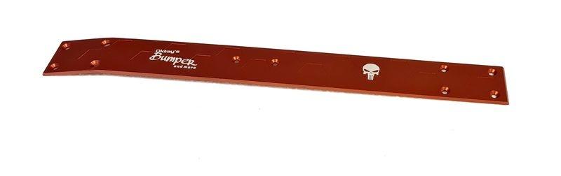 Oktay RC Skidplate 7075 durchgehend rot für Carson Virus