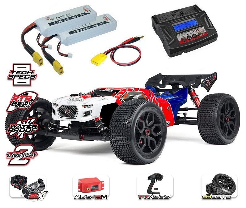Arrma Talion 6s BLX 4WD Electric Speed Truggy RTR 2.4GHz rot