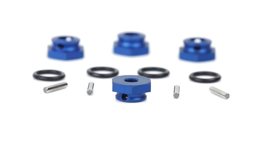 LRP Aluminium Radmitnehmer blau (4Stk.) - S10 Blast