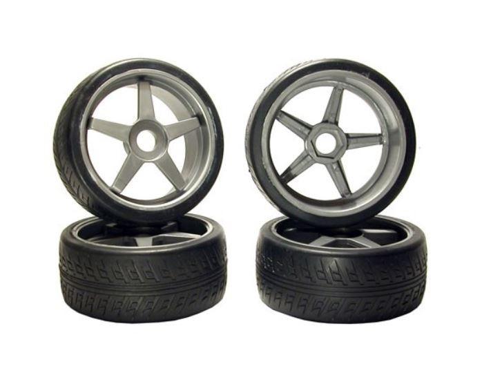 Kyosho Reifen INFERNO GT mit silber Felgen 1:8 (4)
