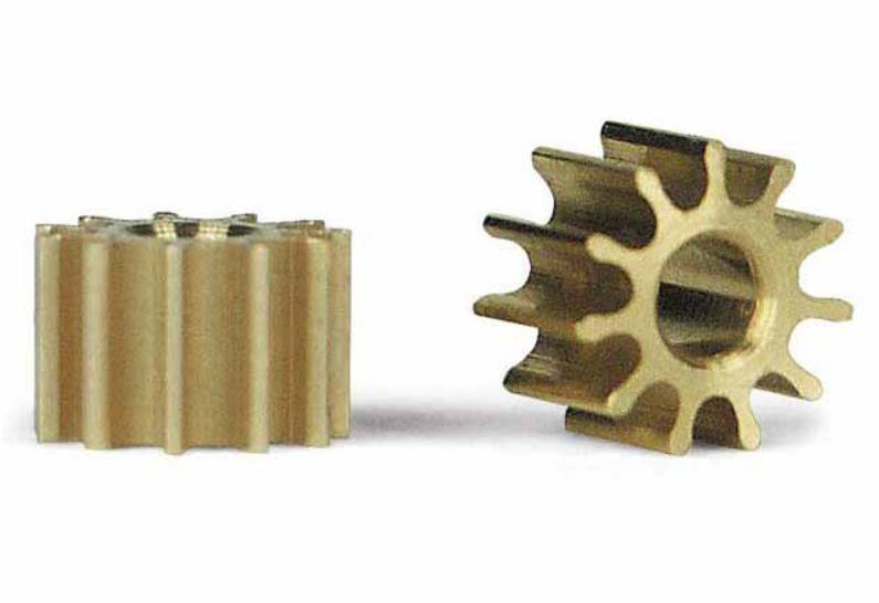 Slot.It 2x Motorritzel PAS 5,5mm 11 Zähne für 2,00mm, inline