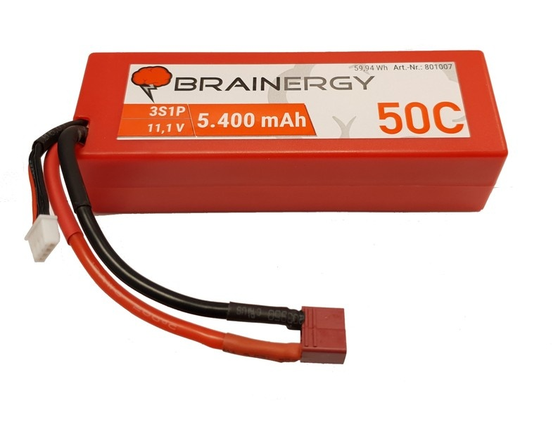 Yuki Model Brainergy LiPo 3s1p 11,1V 5400mAh 50C