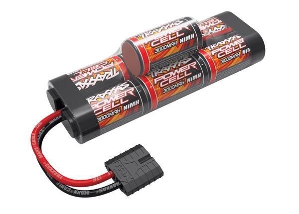 Traxxas Battery, Power Cell, 3000mAh (NiMH, 7-C hump, 8.4V)
