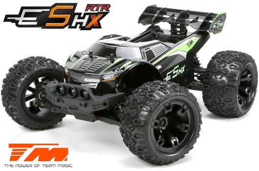 Team Magic E5 HX 4WD Monster Truck Schwarz/Grün Brushless