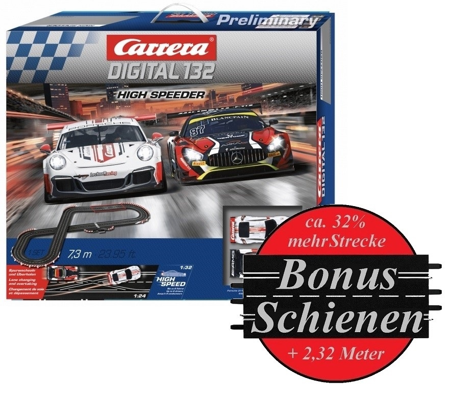 Carrera Digital 132 High Speeder --SPARSET-- incl. Bonus-