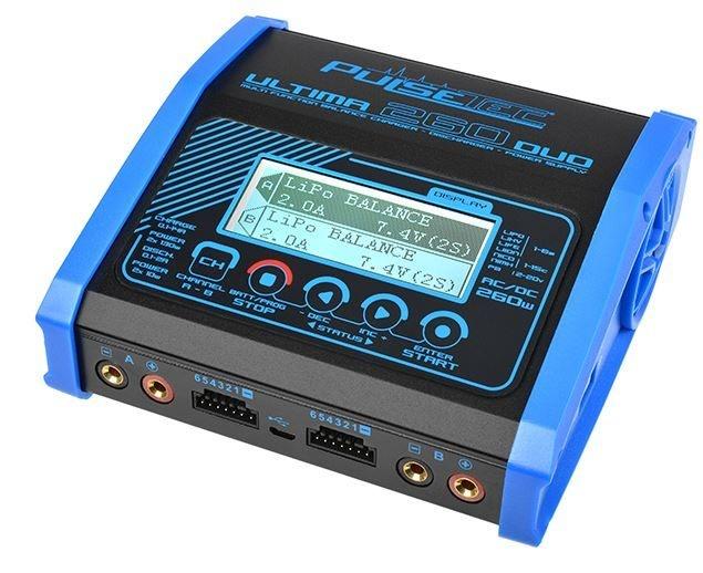 Pulsetec - Dual Charger Ultima 260 Duo AC 100-240V/DC 11-18V