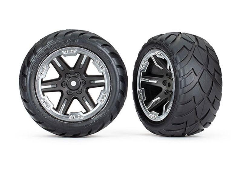 Traxxas Reifen auf Felge 2.8 RXT chromschwarz / Anaconda