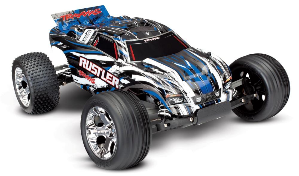 Traxxas Rustler 2WD Stadium Truck (12T+XL-5) 2.4GHz blau