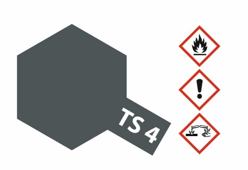 Tamiya Acryl-Sprühfarbe TS-4 German-Grau matt 100ml