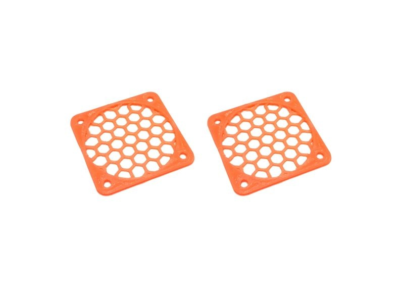 JS-Parts Lüftergitter 40mm / 2 Stück (Set) orange
