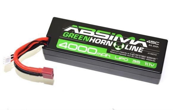 Absima LiPo Stick Pack 11.1V-45C 4000 Hardcase (T-Plug)