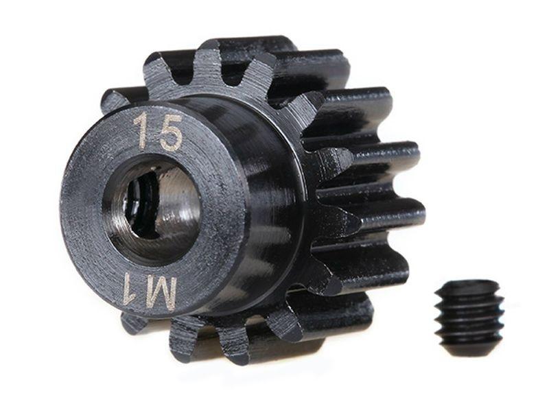 Traxxas Zahnrad, 15-T Ritzel (1.0 Modul) 5mm Welle extra-