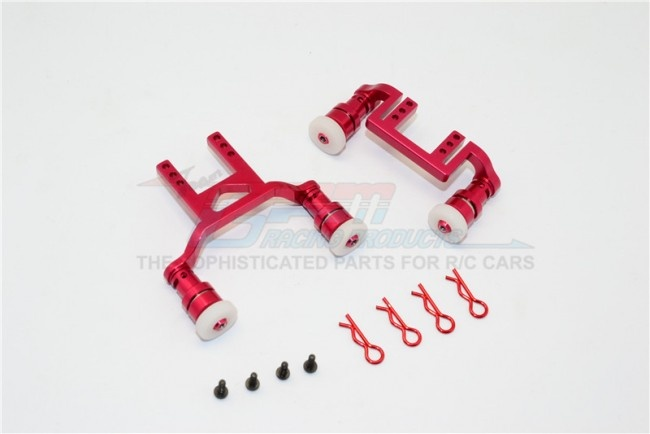 GPM aluminium front + rear body mount & magnet post - 1 Set