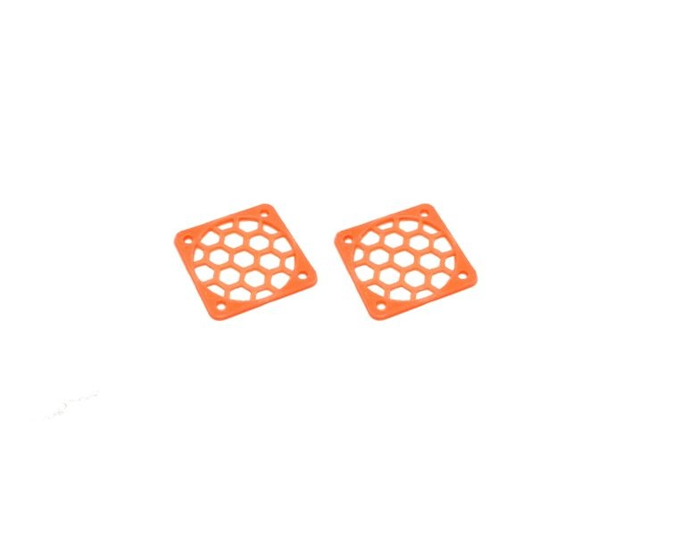 JS-Parts Lüftergitter 25mm / 2 Stück (Set) orange