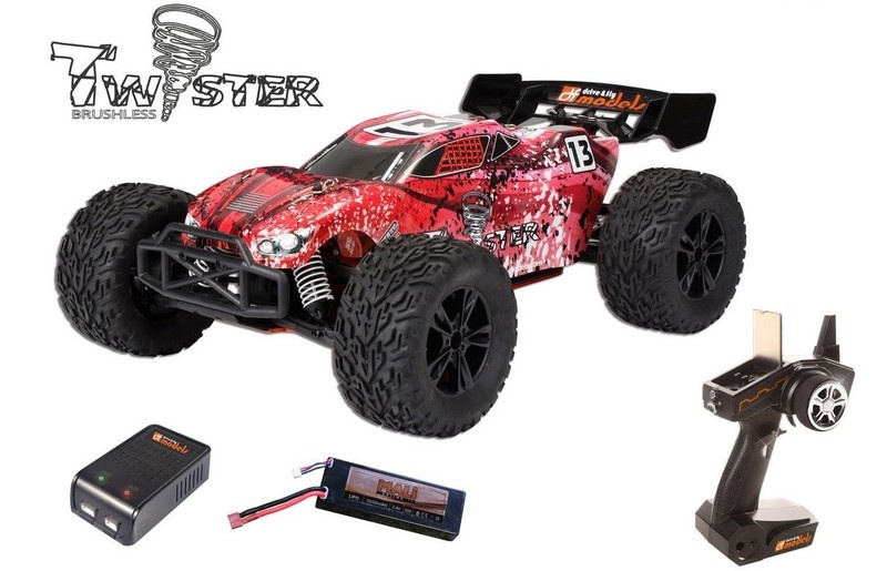 DF-Models Twister brushless 4WDTruggy 2.4GHz - RTR 1:10XL -