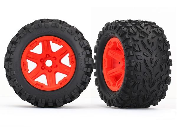 Traxxas Reifen auf Felge orange montiert (Talon EXT 3.8)
