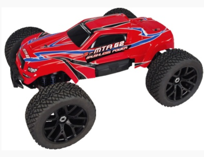 Thunder Tiger e-MTA G2 BL Monster Truck rot 2.4GHz RTR 1:8