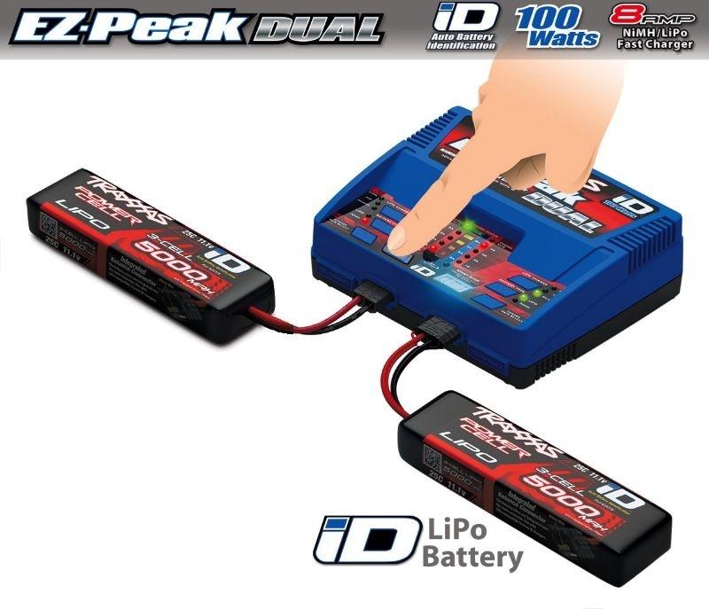 Traxxas Dual EZ Peak Plus Lader 2972GX + 2x 3S LiPo 5000mAh