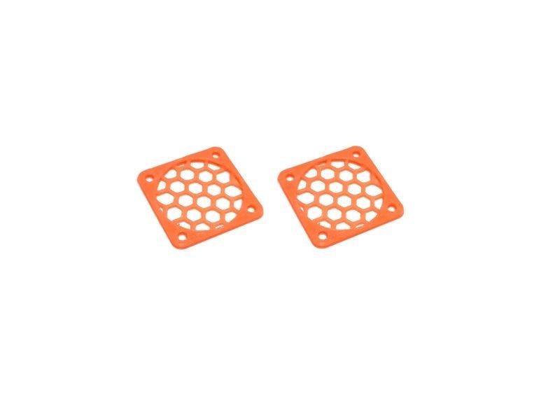 JS-Parts Lüftergitter 30mm / 2 Stück (Set) orange