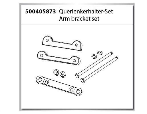 Carson Querlenkerhalter-Set X10 Dirt Warrior Sport 2.0 /