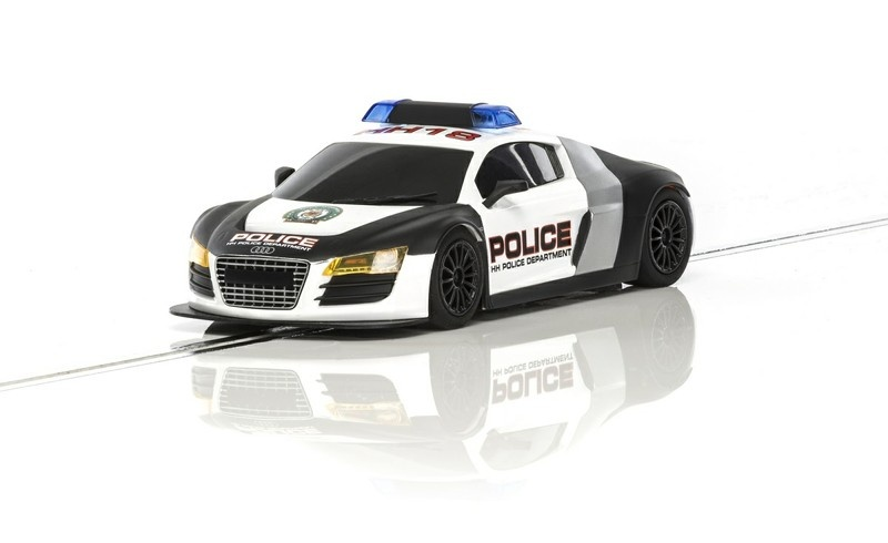 Scalextric Audi R8 Police Car (blau/weiss) HD