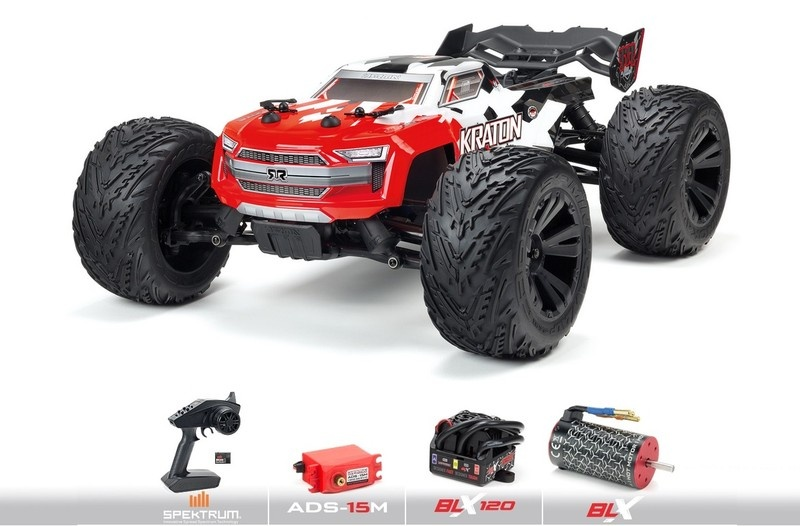 Arrma KRATON 4x4 4S BLX 4WD Brushless Monster Truck -Red-