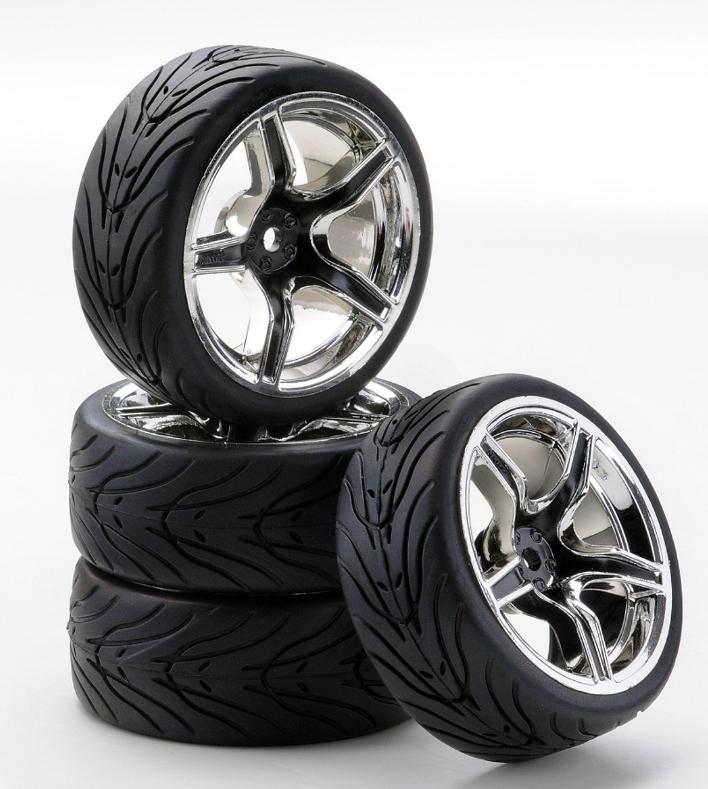 Carson SC-Räder AMC Style chrom/schwarz, 4 Stück