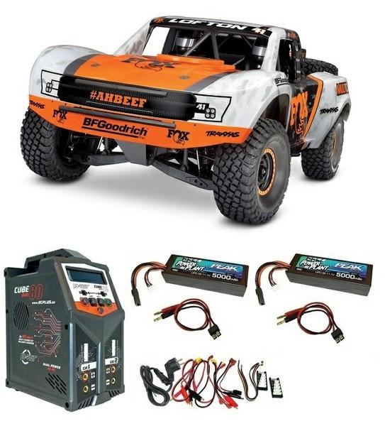 Traxxas Unlim.Desert Racer 4x4Truck 4-6S VXL w/orange 1:7