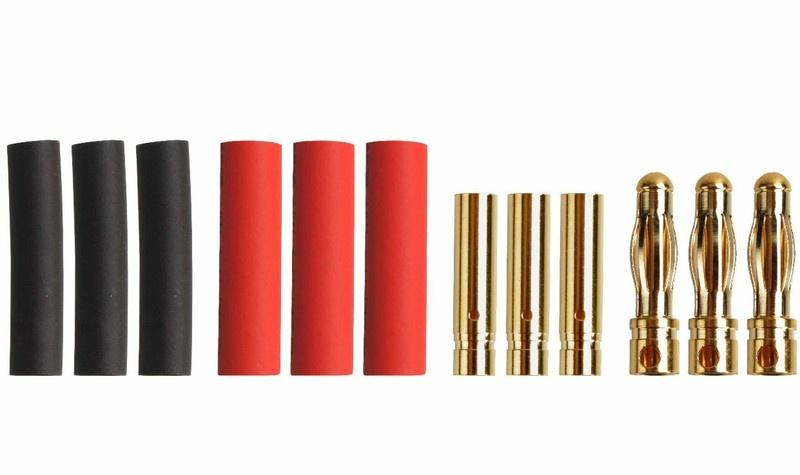 Goldkontakt 4mm, 3 Paare