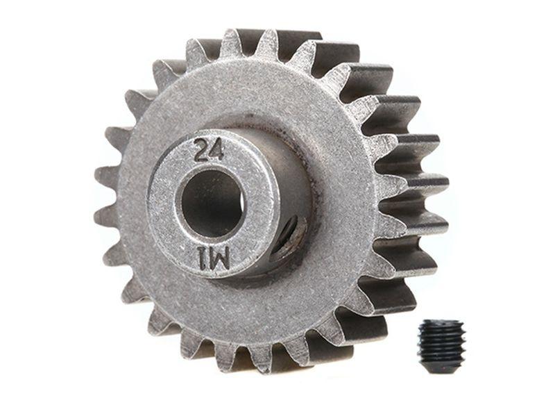 Traxxas Gear, 24-T pinion (1.0 metric pitch)(fits 5mm shaft)