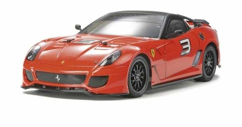 Tamiya RC Ferrari 599XX (TT-01E) unlackiert Bausatz 1:10