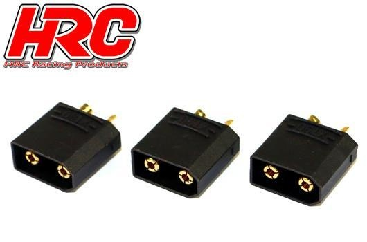 HRC Stecker - Gold - XT90 SCHWARZ - männchen (3 Stk.)