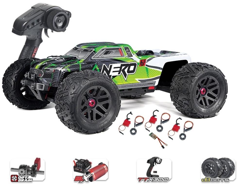 ARRMA NERO 6S EDC 4WD BLX Monster Truck RTR, grün