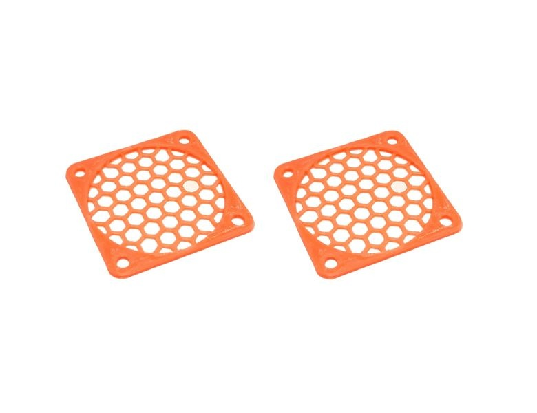 JS-Parts Lüftergitter 45mm / 2 Stück (Set) orange