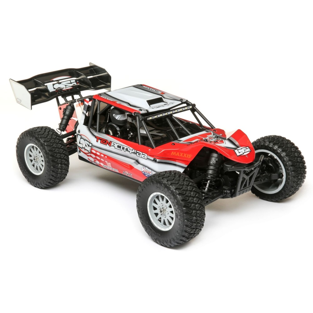Losi TENACITY Desert Buggy, AVC, Red/Gry: 1/10 4WD RTR