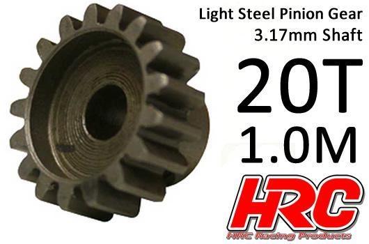 HRC Motorritzel - 1.0M / 3.17mm Achse - Stahl - Leicht - 20Z