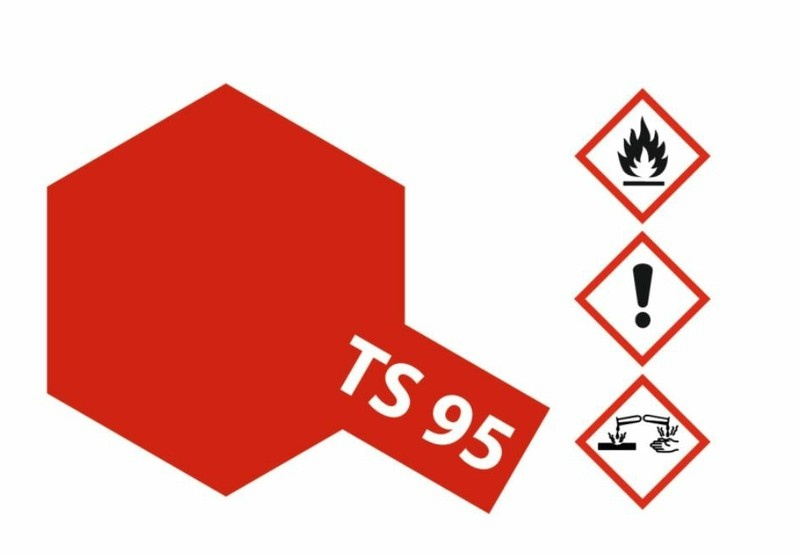 Tamiya Acryl-Sprühfarbe TS-95 Pure Metallic Rot glänzend