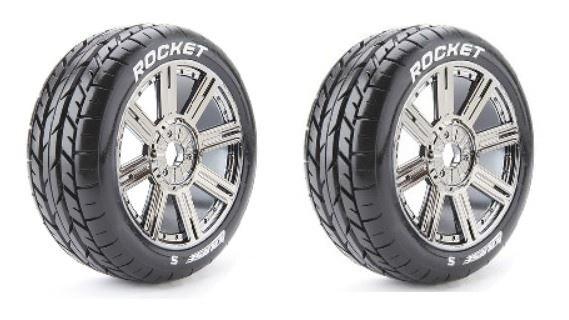 Louise RC B-ROCKET Buggy Reifen 1:8 Fertig Verklebt -Soft-