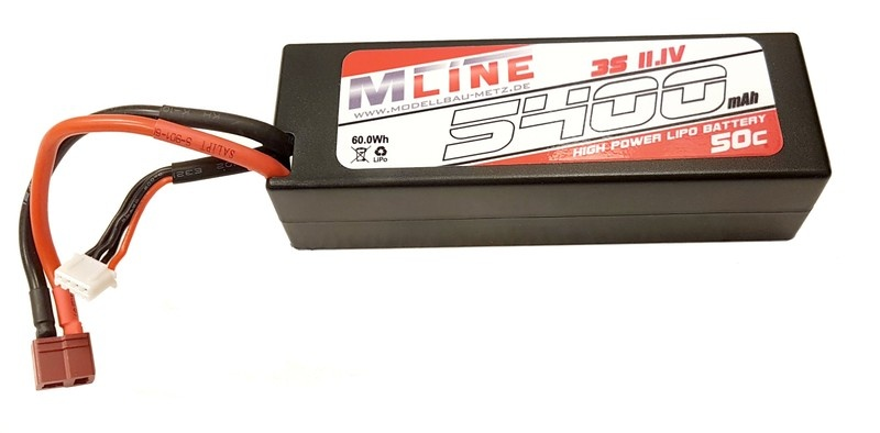 MLine High Power LiPo Akku 50C 3S 11.1V 5400mAh T-Plug