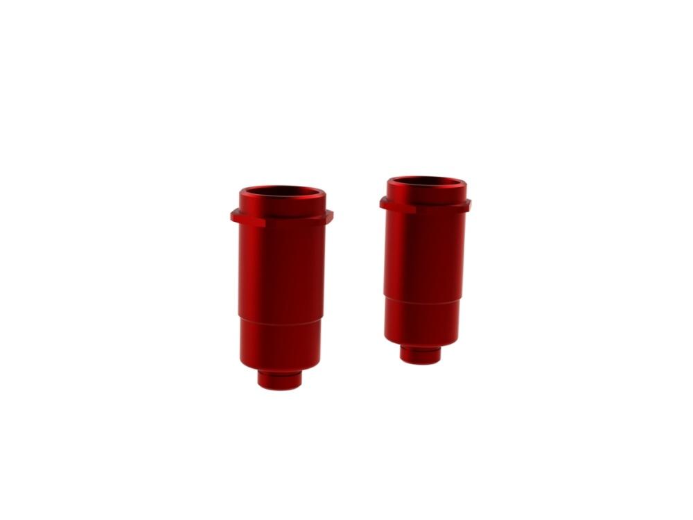 Arrma RC Alu Stossdämpfergehäuse BigBore 16x41mm rot (2)