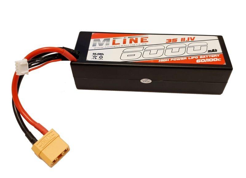 MLine High Power LiPo Akku 60/100C 3S 11,1V 6000mAh XT90