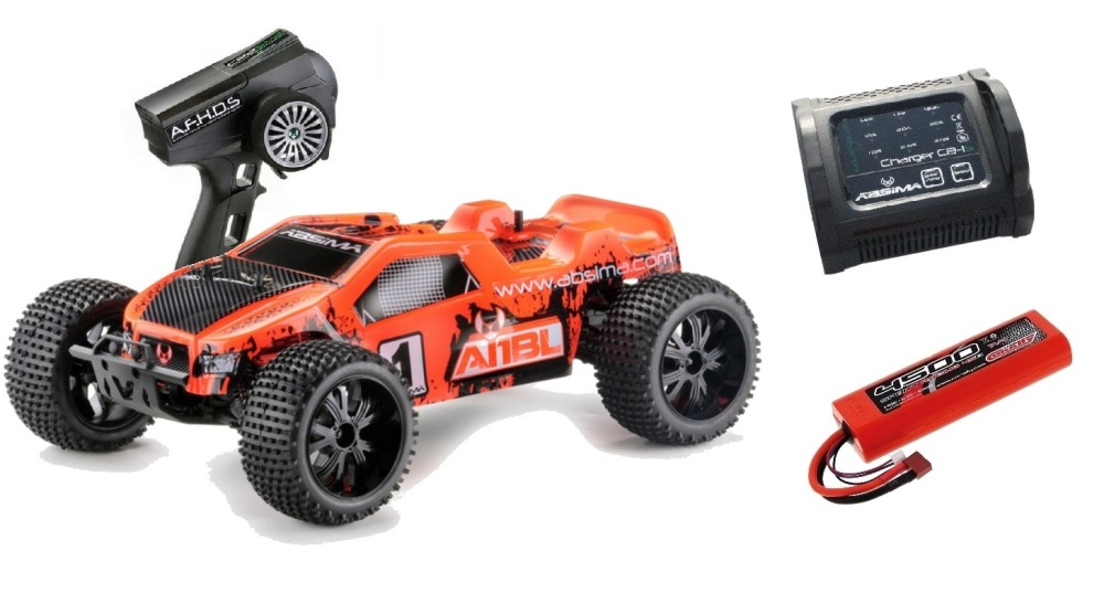 Absima EP Truggy AT1BL 4WD Brushless RTR 1:10 - SPARPAKET -