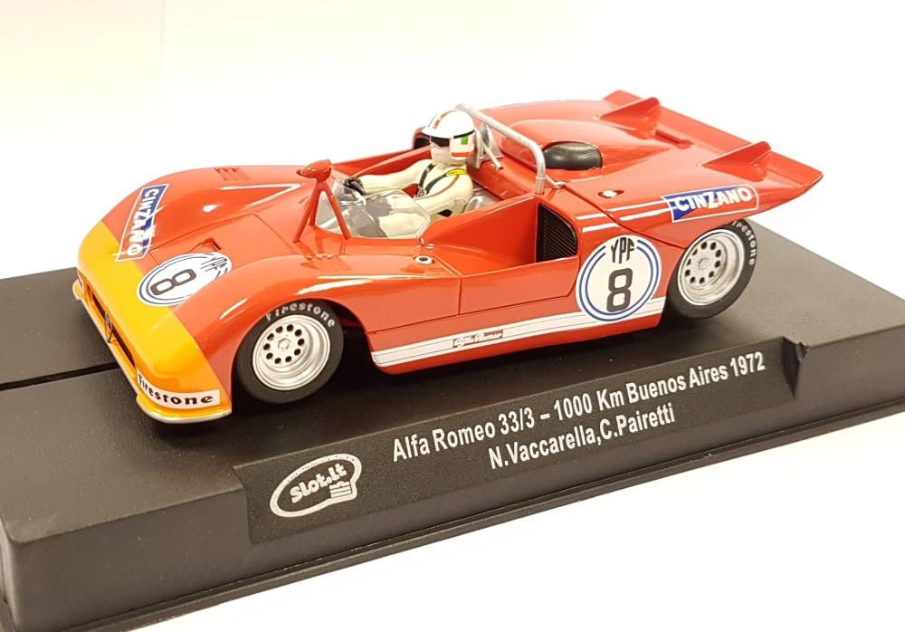 Slot it Alfa Romeo T33/3 n. 8 1000Km Buenos Aires 1972
