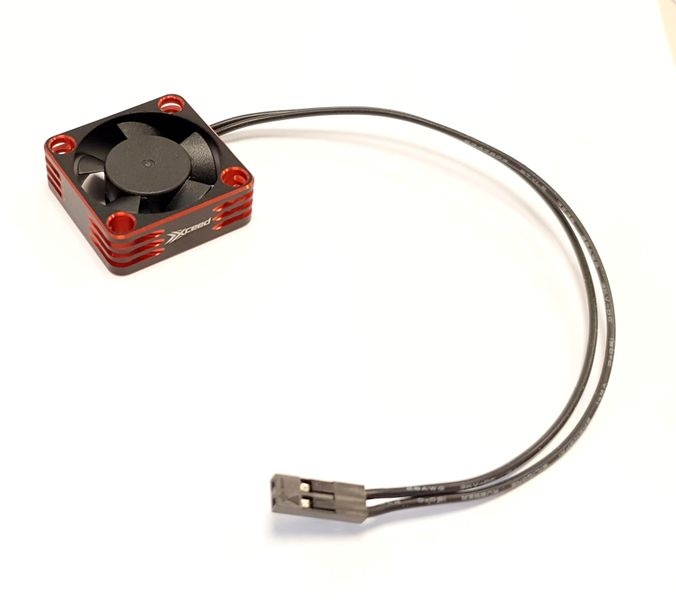 XCEED Aluminum Fan for ESC and Motor 30 x 30 mm - Rot
