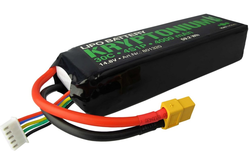 Yuki Model KRYPTONIUM LiPo 4s1p 14,8V 4000mAh 30C XT60